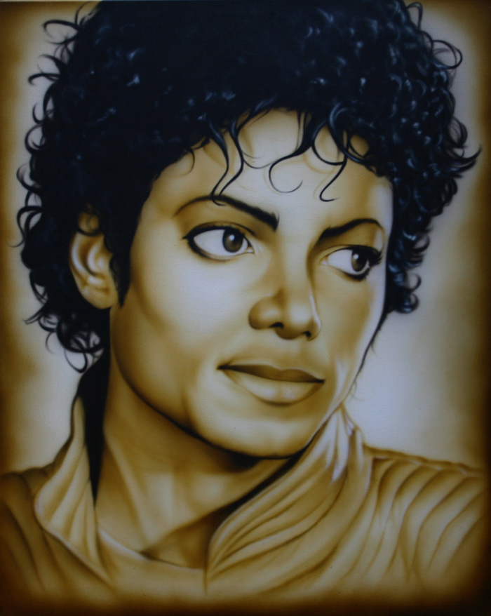 Michael Jackson Thriller photo canvas custom airbrushing