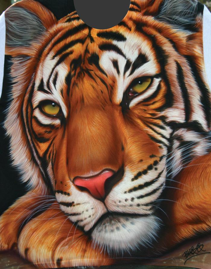 bengal tiger t-shirt custom airbrushing