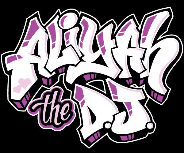 aliyah dj graffiti logo